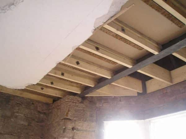 Replaced structural timber beams