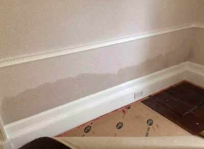 Watermarks on the wall - rising damp