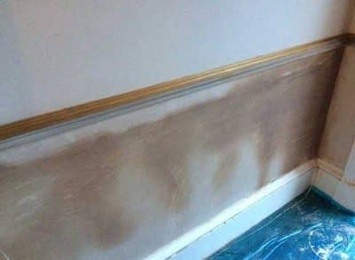 Drying plaster work after rising damp treatment