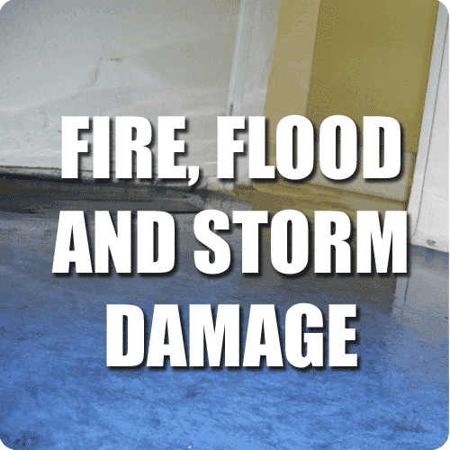fire flood and storm damage repair service button