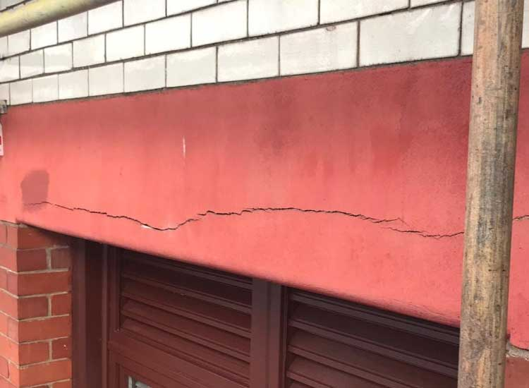 Cracked lintel