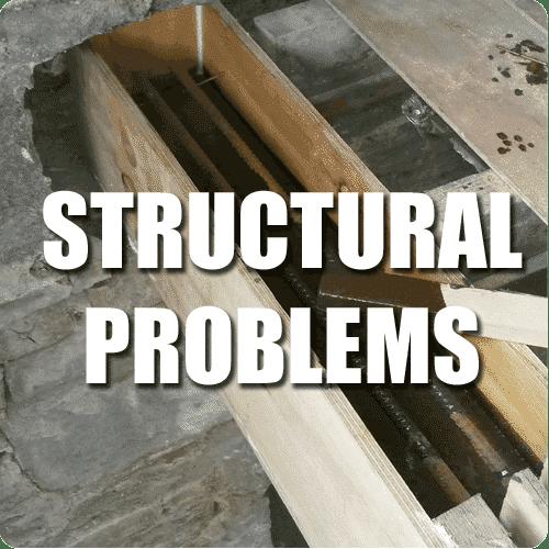 structural problem service button