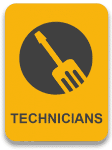 Looking for technicians sign
