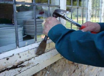 Repairing rotten timber windows