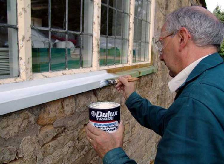 Repainting Repaired Timber Windows