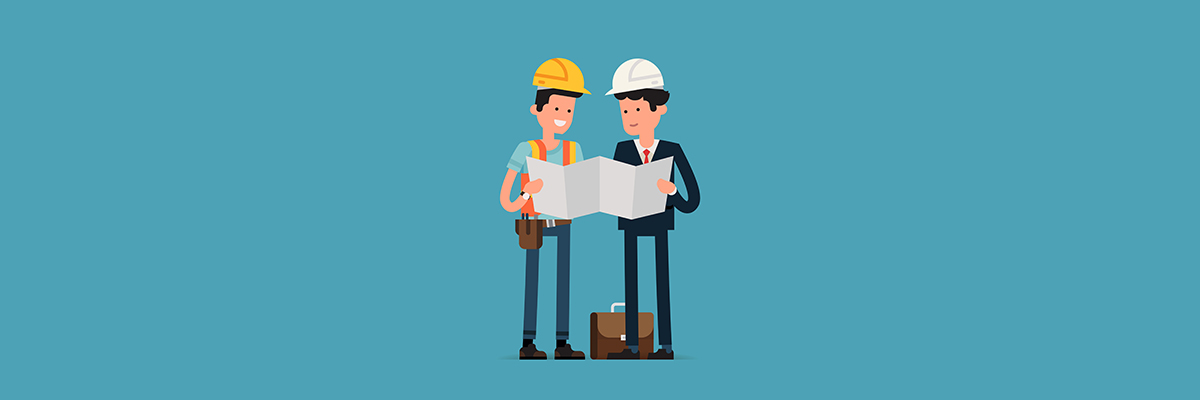 construction staff vector image