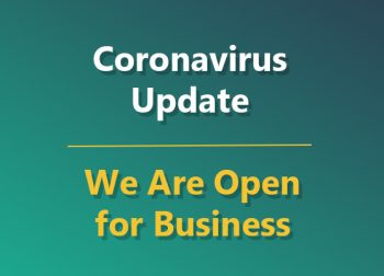 Coronavirus Update | We Are Open for Business