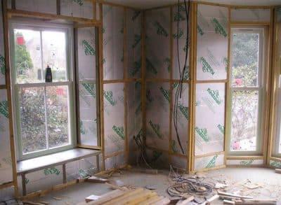 Applying wall insulation