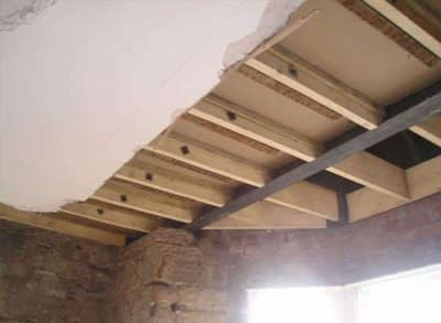 Dry rot treatment within timber beams
