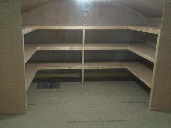 Basement conversion into a storage area