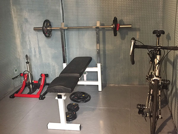 Cellar basement conversion into a small gym
