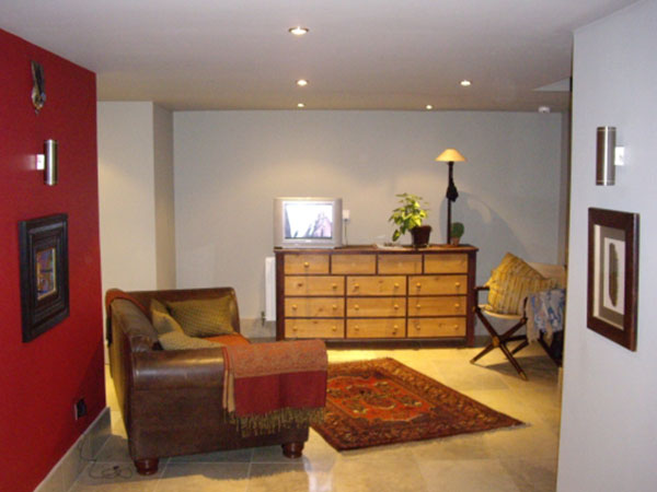 Completed basement conversion - living space